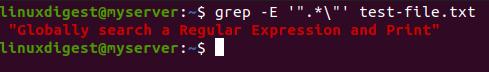 "grep -E '"".*""' test-file.txt"