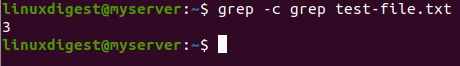 grep -c grep test-file.txt
