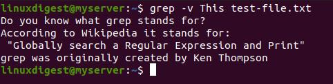 grep -v This test-file.txt